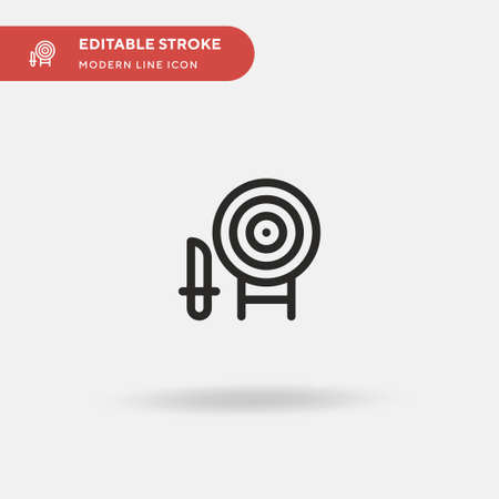 Dagger Simple vector icon. Illustration symbol design template for web mobile UI element. Perfect color modern pictogram on editable stroke. Dagger icons for your business project