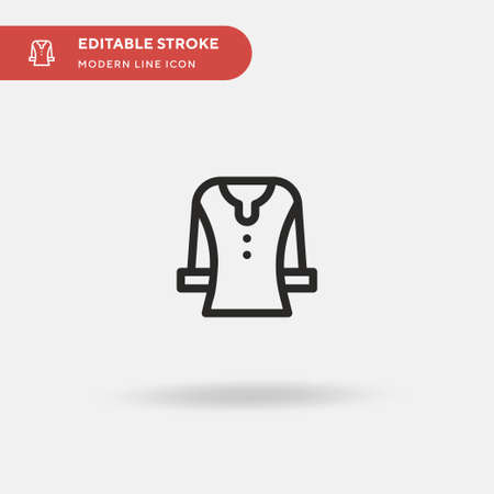 Crewneck Simple vector icon. Illustration symbol design template for web mobile UI element. Perfect color modern pictogram on editable stroke. Crewneck icons for your business project  イラスト・ベクター素材