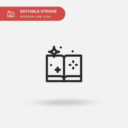Spellbound Simple vector icon. Illustration symbol design template for web mobile UI element. Perfect color modern pictogram on editable stroke. Spellbound icons for your business project