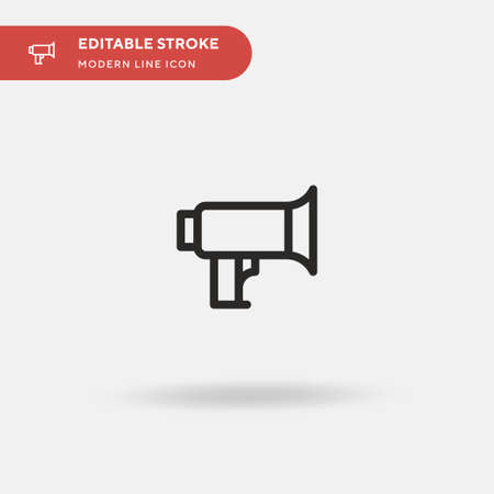 Megaphone Simple vector icon. Illustration symbol design template for web mobile UI element. Perfect color modern pictogram on editable stroke. Megaphone icons for your business project Ilustração