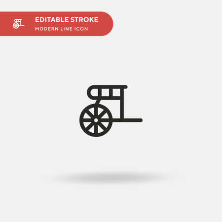 Chariot Simple vector icon. Illustration symbol design template for web mobile UI element. Perfect color modern pictogram on editable stroke. Chariot icons for your business project Illusztráció