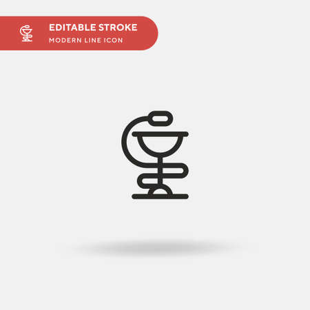 Hygeia Simple vector icon. Illustration symbol design template for web mobile UI element. Perfect color modern pictogram on editable stroke. Hygeia icons for your business project 일러스트