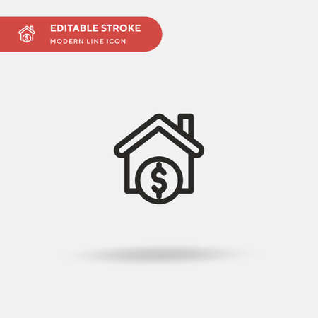 Mortgage Loan Simple vector icon. Illustration symbol design template for web mobile UI element. Perfect color modern pictogram on editable stroke. Mortgage Loan icons for your business project