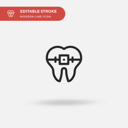 Braces Simple vector icon. Illustration symbol design template for web mobile UI element. Perfect color modern pictogram on editable stroke. Braces icons for your business project Stock Illustratie