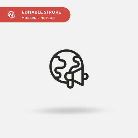 Marketing Simple vector icon. Illustration symbol design template for web mobile UI element. Perfect color modern pictogram on editable stroke. Marketing icons for your business project Ilustrace