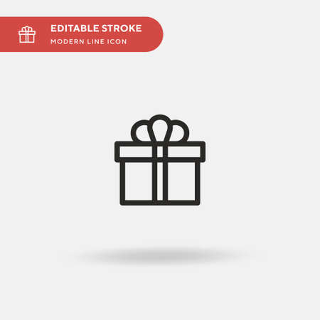 Gift Simple vector icon. Illustration symbol design template for web mobile UI element. Perfect color modern pictogram on editable stroke. Gift icons for your business project 向量圖像
