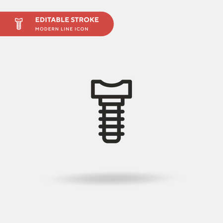 Implants Simple vector icon. Illustration symbol design template for web mobile UI element. Perfect color modern pictogram on editable stroke. Implants icons for your business project