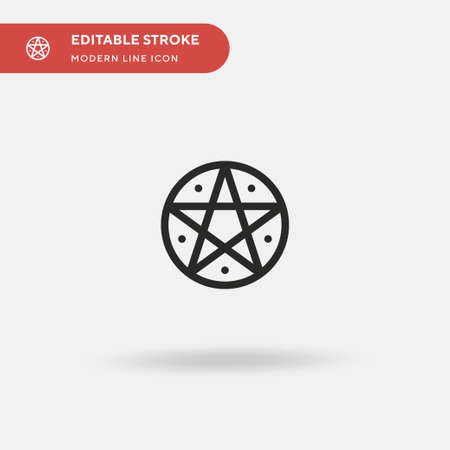 Pentagram Simple vector icon. Illustration symbol design template for web mobile UI element. Perfect color modern pictogram on editable stroke. Pentagram icons for your business project