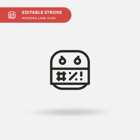 Obscene Simple vector icon. Illustration symbol design template for web mobile UI element. Perfect color modern pictogram on editable stroke. Obscene icons for your business project