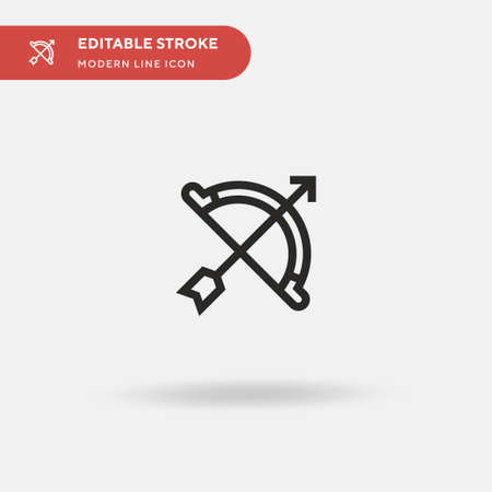 Archery Simple vector icon. Illustration symbol design template for web mobile UI element. Perfect color modern pictogram on editable stroke. Archery icons for your business project