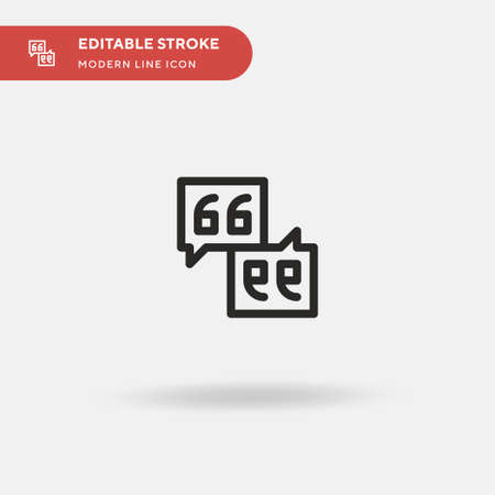 Quotation Simple vector icon. Illustration symbol design template for web mobile UI element. Perfect color modern pictogram on editable stroke. Quotation icons for your business project Ilustrace