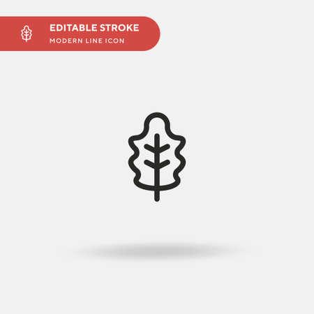 Oak Leaf Simple vector icon. Illustration symbol design template for web mobile UI element. Perfect color modern pictogram on editable stroke. Oak Leaf icons for your business project