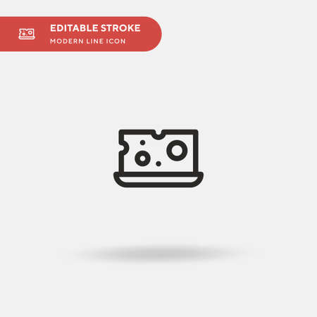 Cheese Simple vector icon. Illustration symbol design template for web mobile UI element. Perfect color modern pictogram on editable stroke. Cheese icons for your business project Vectores