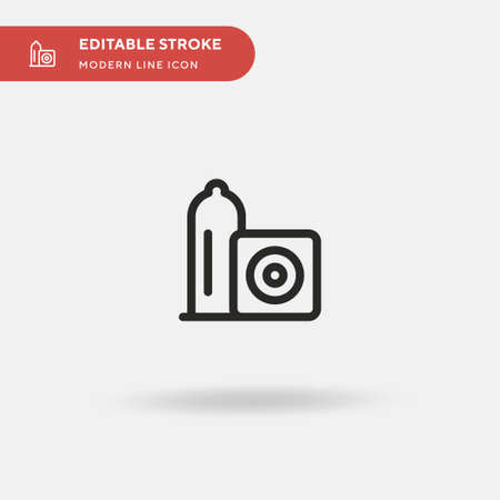 Condom Simple vector icon. Illustration symbol design template for web mobile UI element. Perfect color modern pictogram on editable stroke. Condom icons for your business project
