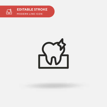Toothache Simple vector icon. Illustration symbol design template for web mobile UI element. Perfect color modern pictogram on editable stroke. Toothache icons for your business project