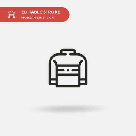 Sweater Simple vector icon. Illustration symbol design template for web mobile UI element. Perfect color modern pictogram on editable stroke. Sweater icons for your business project  イラスト・ベクター素材