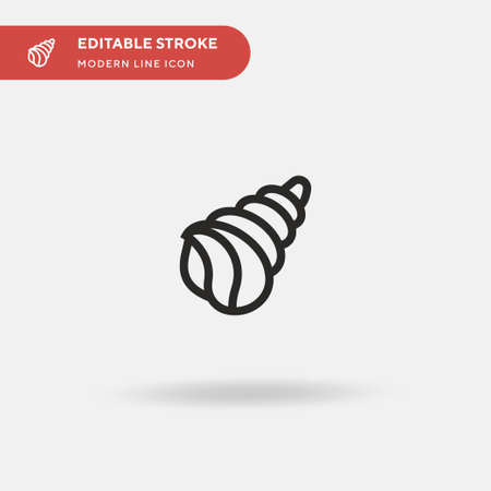 Conch Simple vector icon. Illustration symbol design template for web mobile UI element. Perfect color modern pictogram on editable stroke. Conch icons for your business project Illustration
