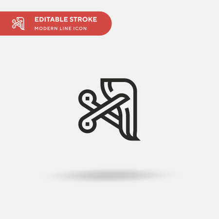Hair Simple vector icon. Illustration symbol design template for web mobile UI element. Perfect color modern pictogram on editable stroke. Hair icons for your business project