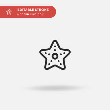 Starfish Simple vector icon. Illustration symbol design template for web mobile UI element. Perfect color modern pictogram on editable stroke. Starfish icons for your business project Illustration
