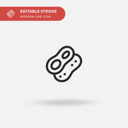 Peanut Simple vector icon. Illustration symbol design template for web mobile UI element. Perfect color modern pictogram on editable stroke. Peanut icons for your business project Illustration