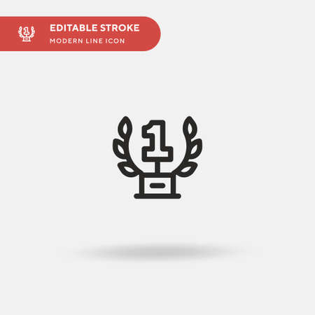 Trophy Simple vector icon. Illustration symbol design template for web mobile UI element. Perfect color modern pictogram on editable stroke. Trophy icons for your business project Standard-Bild - 150989148