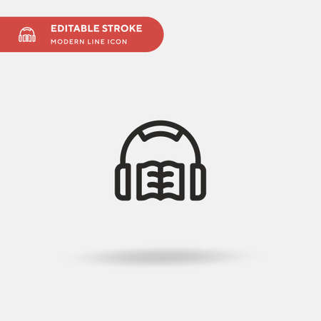 Audiobook Simple vector icon. Illustration symbol design template for web mobile UI element. Perfect color modern pictogram on editable stroke. Audiobook icons for your business project