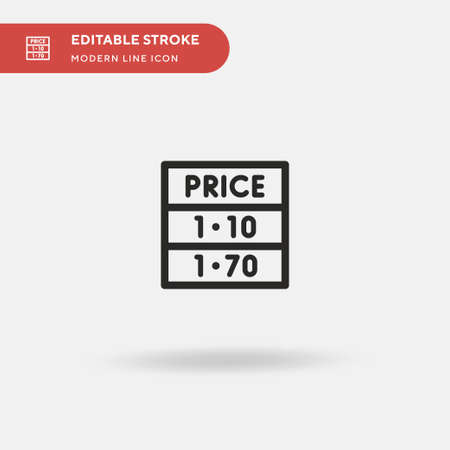 Oil Price Simple vector icon. Illustration symbol design template for web mobile UI element. Perfect color modern pictogram on editable stroke. Oil Price icons for your business project Ilustração
