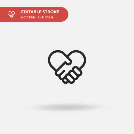 Peace Simple vector icon. Illustration symbol design template for web mobile UI element. Perfect color modern pictogram on editable stroke. Peace icons for your business project