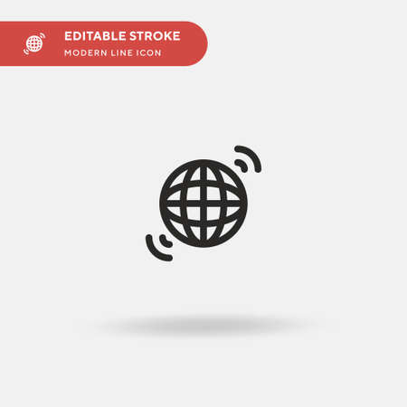 International Simple vector icon. Illustration symbol design template for web mobile UI element. Perfect color modern pictogram on editable stroke. International icons for your business project