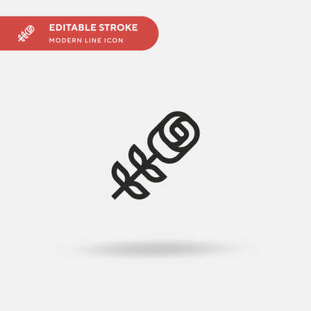 Rose Simple vector icon. Illustration symbol design template for web mobile UI element. Perfect color modern pictogram on editable stroke. Rose icons for your business project Ilustracja