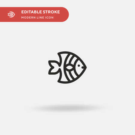 Angelfish Simple vector icon. Illustration symbol design template for web mobile UI element. Perfect color modern pictogram on editable stroke. Angelfish icons for your business project
