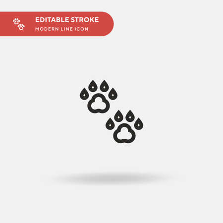 Animal Track Simple vector icon. Illustration symbol design template for web mobile UI element. Perfect color modern pictogram on editable stroke. Animal Track icons for your business project