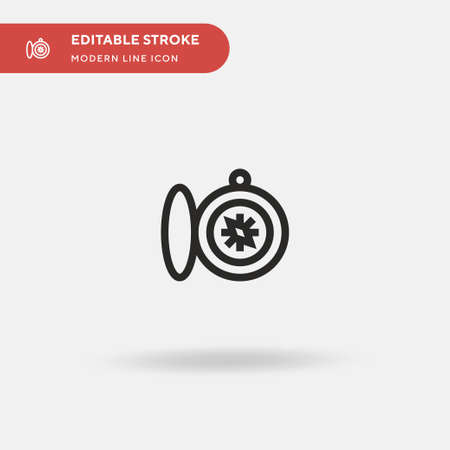 Compass Simple vector icon. Illustration symbol design template for web mobile UI element. Perfect color modern pictogram on editable stroke. Compass icons for your business project Ilustrace