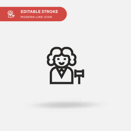 Judge Simple vector icon. Illustration symbol design template for web mobile UI element. Perfect color modern pictogram on editable stroke. Judge icons for your business project