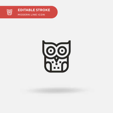 Owl Simple vector icon. Illustration symbol design template for web mobile UI element. Perfect color modern pictogram on editable stroke. Owl icons for your business project