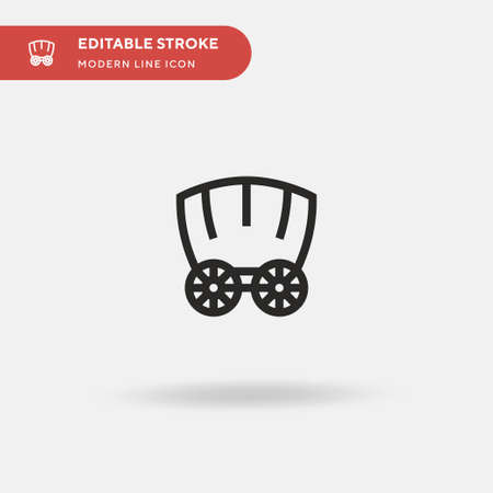 Carriage Simple vector icon. Illustration symbol design template for web mobile UI element. Perfect color modern pictogram on editable stroke. Carriage icons for your business project Ilustrace