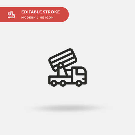 Anti Simple vector icon. Illustration symbol design template for web mobile UI element. Perfect color modern pictogram on editable stroke. Anti icons for your business project