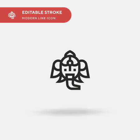 Ganesha Simple vector icon. Illustration symbol design template for web mobile UI element. Perfect color modern pictogram on editable stroke. Ganesha icons for your business project
