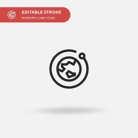 Globe Simple vector icon. Illustration symbol design template for web mobile UI element. Perfect color modern pictogram on editable stroke. Globe icons for your business project