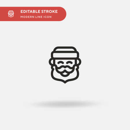 Santa Claus Simple vector icon. Illustration symbol design template for web mobile UI element. Perfect color modern pictogram on editable stroke. Santa Claus icons for your business project Ilustrace
