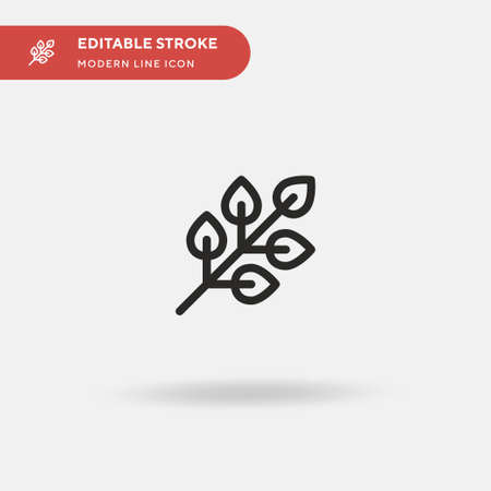 Leaf Simple vector icon. Illustration symbol design template for web mobile UI element. Perfect color modern pictogram on editable stroke. Leaf icons for your business project 向量圖像