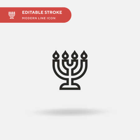 Menorah Simple vector icon. Illustration symbol design template for web mobile UI element. Perfect color modern pictogram on editable stroke. Menorah icons for your business project Ilustrace