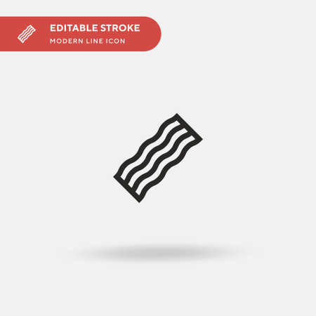 Bacon Simple vector icon. Illustration symbol design template for web mobile UI element. Perfect color modern pictogram on editable stroke. Bacon icons for your business project