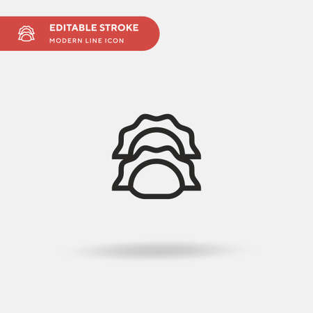 Gyoza Simple vector icon. Illustration symbol design template for web mobile UI element. Perfect color modern pictogram on editable stroke. Gyoza icons for your business project