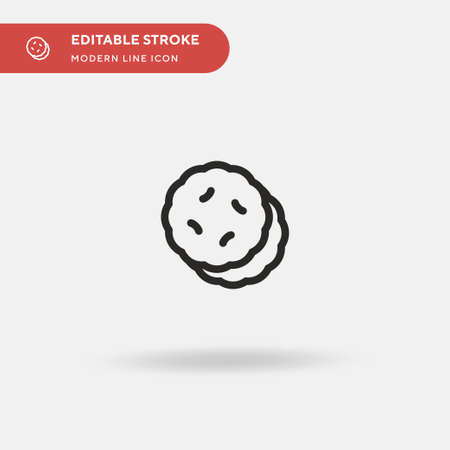 Pita Bread Simple vector icon. Illustration symbol design template for web mobile UI element. Perfect color modern pictogram on editable stroke. Pita Bread icons for your business project