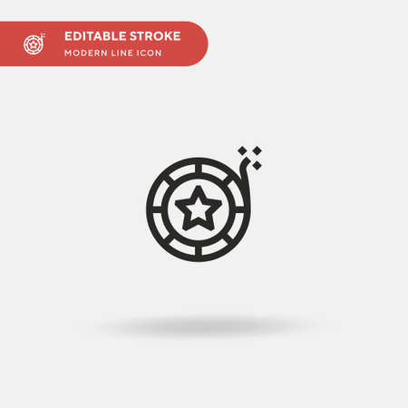 Firecracker Simple vector icon. Illustration symbol design template for web mobile UI element. Perfect color modern pictogram on editable stroke. Firecracker icons for your business project Çizim