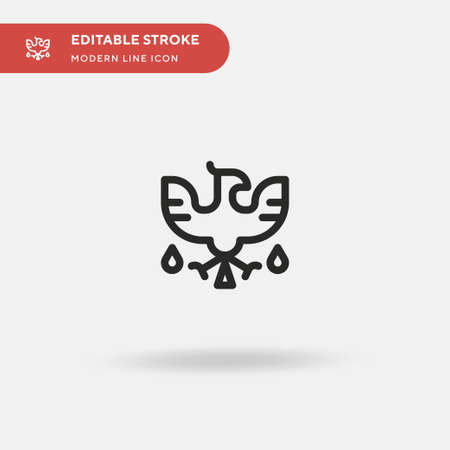 Phoenix Simple vector icon. Illustration symbol design template for web mobile UI element. Perfect color modern pictogram on editable stroke. Phoenix icons for your business project 일러스트