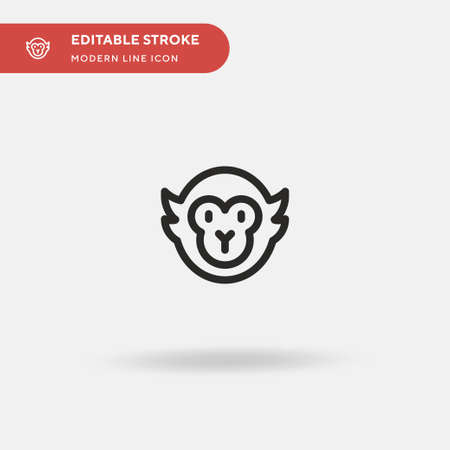 Capuchin Simple vector icon. Illustration symbol design template for web mobile UI element. Perfect color modern pictogram on editable stroke. Capuchin icons for your business project