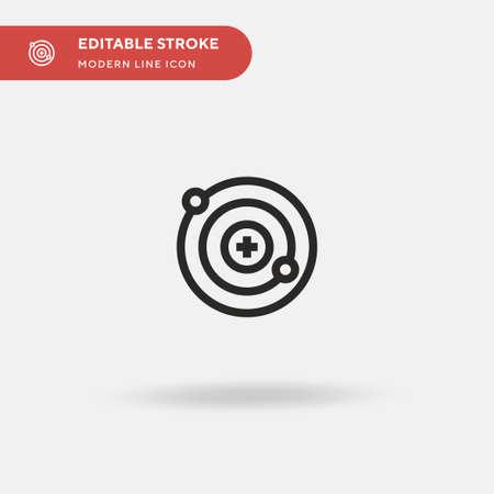 Neutron Simple vector icon. Illustration symbol design template for web mobile UI element. Perfect color modern pictogram on editable stroke. Neutron icons for your business project Illusztráció
