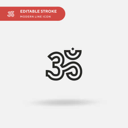 Om Simple vector icon. Illustration symbol design template for web mobile UI element. Perfect color modern pictogram on editable stroke. Om icons for your business project